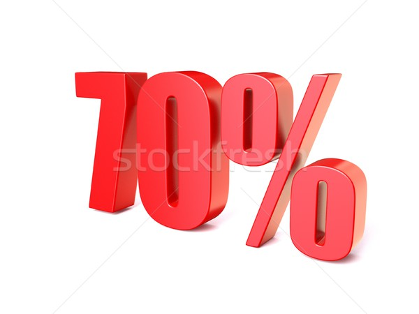 Red percentage sign 70. 3D Stock photo © djmilic