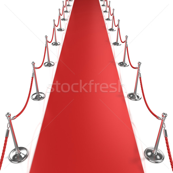 Red carpet, front view Stock photo © djmilic