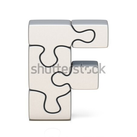 Blanche puzzle 3D rendu 3d Photo stock © djmilic