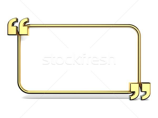 Exemplaar ruimte gouden citaten 3D 3d render illustratie Stockfoto © djmilic