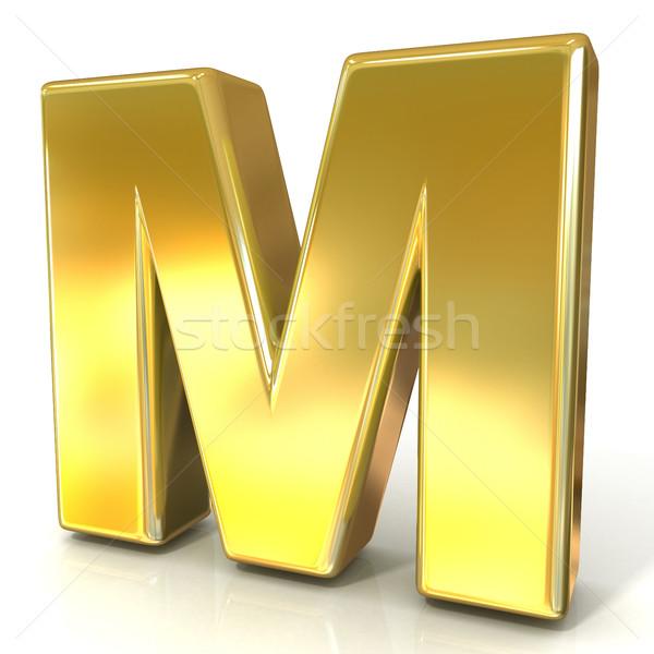 Golden font collection letter - M. 3D Stock photo © djmilic