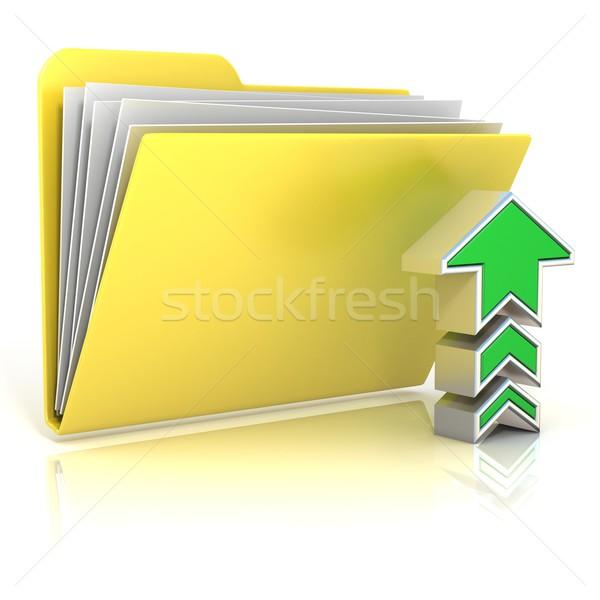 Upload folder icon Stock photo © djmilic
