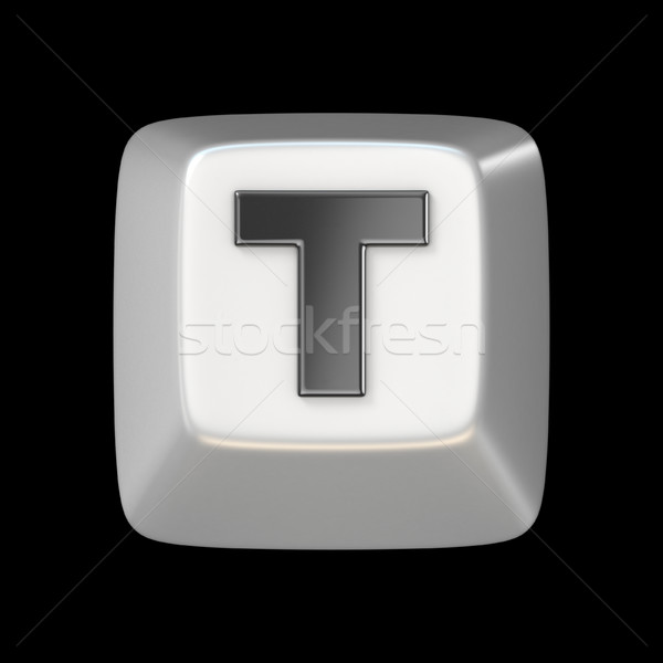 Computer keyboard key FONT. Letter T 3D Stock photo © djmilic