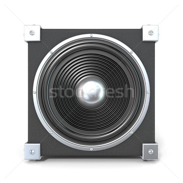 черный аудио оратора 3D 3d визуализации иллюстрация Сток-фото © djmilic
