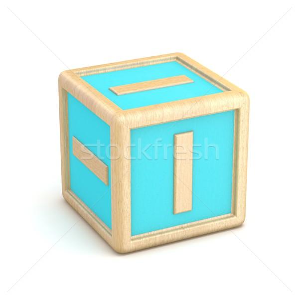 Letter i houten alfabet blokken doopvont 3D Stockfoto © djmilic