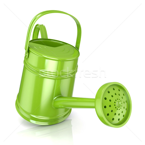 Green watering can 3D Stock photo © djmilic