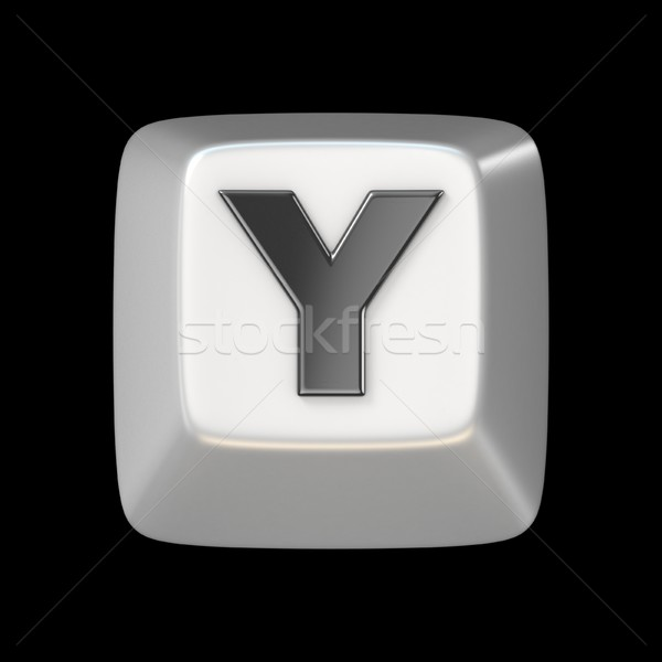 Computer keyboard key FONT. Letter Y 3D Stock photo © djmilic