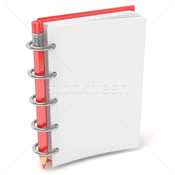 Blank notepad and pencil. 3D Stock photo © djmilic