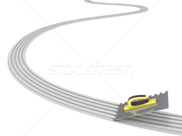линия 3D 3d визуализации изолированный белый Сток-фото © djmilic