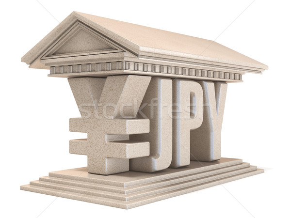 Japanese yen JPY currency sign temple 3D Stock photo © djmilic