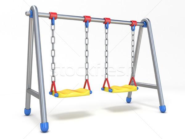 ダブル 子供 スイング 3D 3dのレンダリング 実例 ストックフォト © djmilic