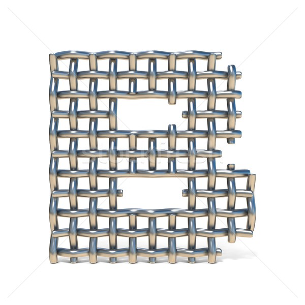 Metal wire mesh font LETTER B 3D Stock photo © djmilic
