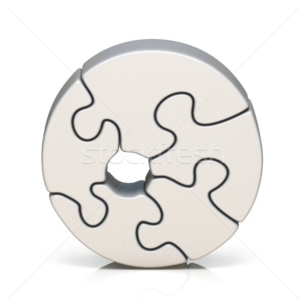 Branco quebra-cabeça número zero 3D Foto stock © djmilic