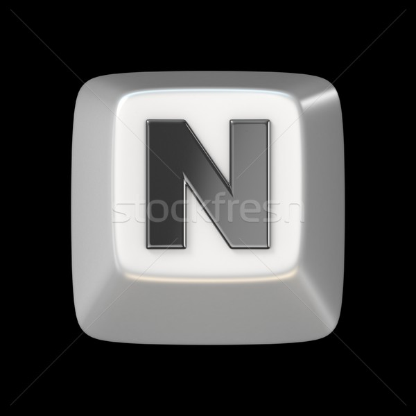 Computer keyboard key FONT. Letter N 3D Stock photo © djmilic