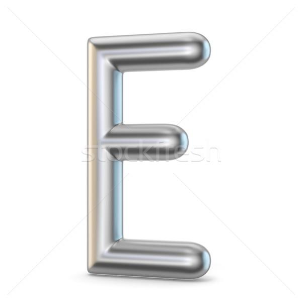 Metal alphabet symbol. Letter E 3D Stock photo © djmilic