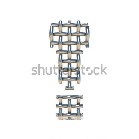 Metal wire mesh font QUESTION MARK 3D Stock photo © djmilic