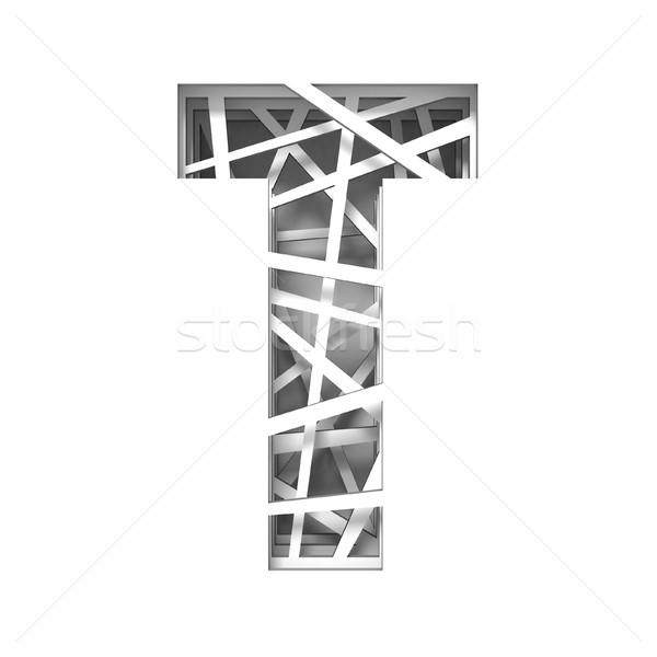 Papír kivágás betűtípus t betű 3D 3d render illusztráció Stock fotó © djmilic