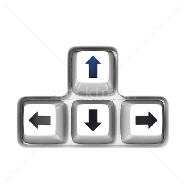Keyboard arrow cursor keys buttons 3D Stock photo © djmilic