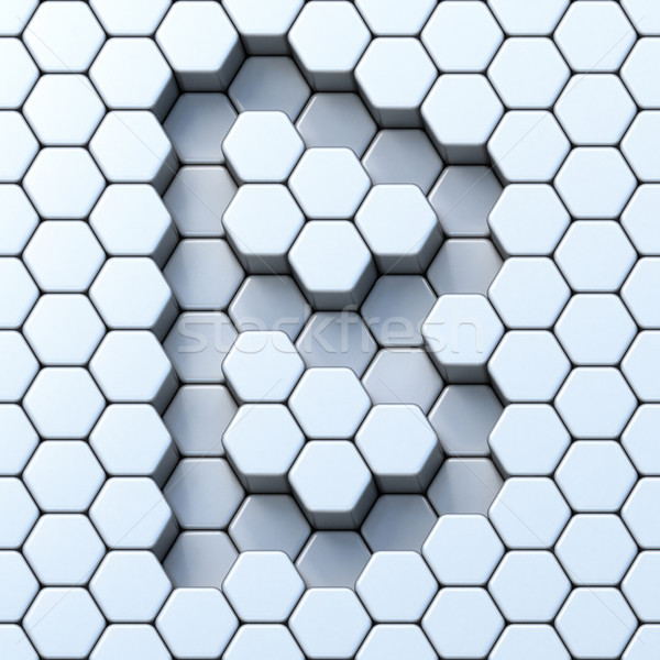 Hexagonal grid letter B 3D Stock photo © djmilic
