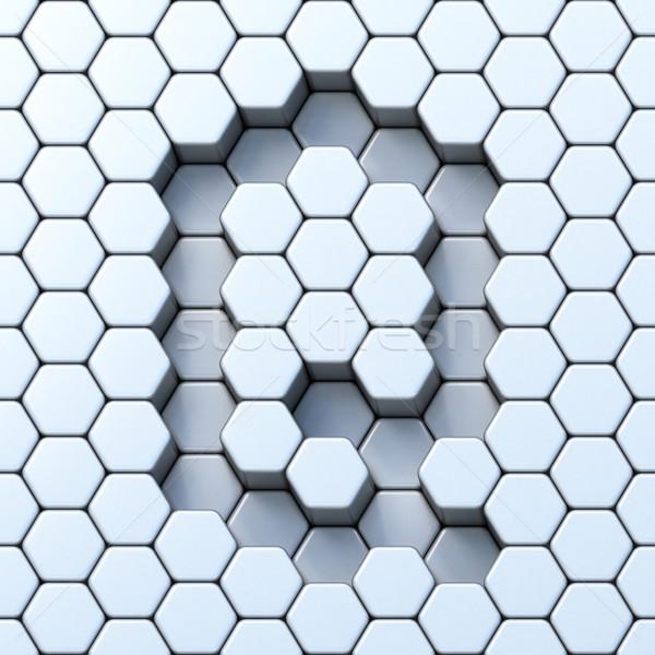 Hexagonal grid letter Q 3D Stock photo © djmilic