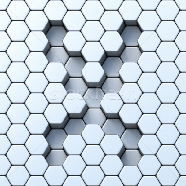 Stock photo: Hexagonal grid letter X 3D