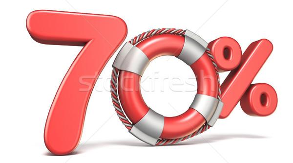Life buoy 70 percent sign 3D Stock photo © djmilic