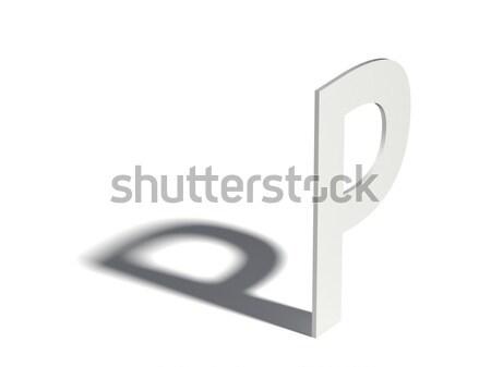 Drop shadow font. Letter B. 3D Stock photo © djmilic