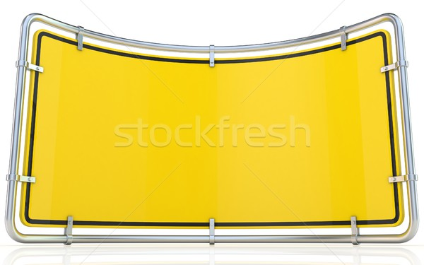 Blank warning sign. Bended 3D Stock photo © djmilic