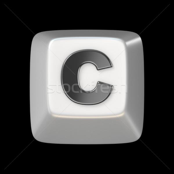 Clave fuente letra c 3D 3d Foto stock © djmilic