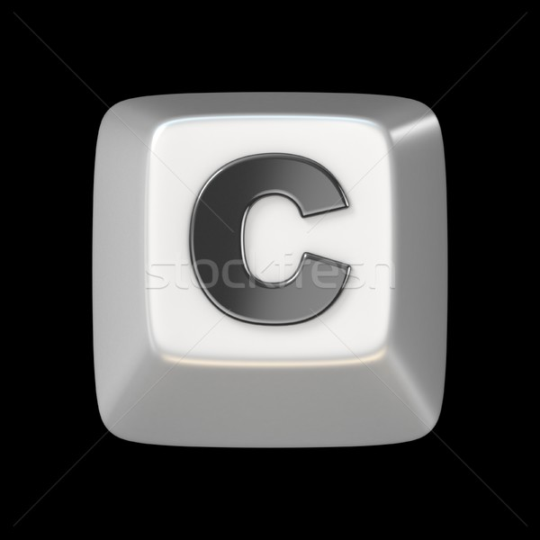 Computer keyboard key FONT. Letter C 3D Stock photo © djmilic