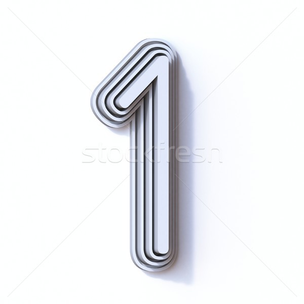 Three steps font number 1 ONE 3D Stock photo © djmilic