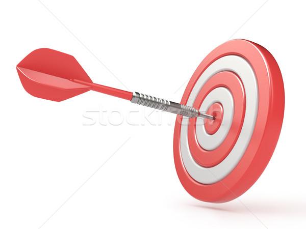 Rojo objetivo dardo centro 3D 3d Foto stock © djmilic