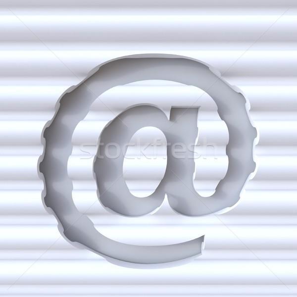 Kivágás betűtípus hullám felület felirat 3D Stock fotó © djmilic