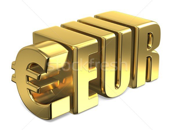 Euro EUR golden currency sign 3D Stock photo © djmilic