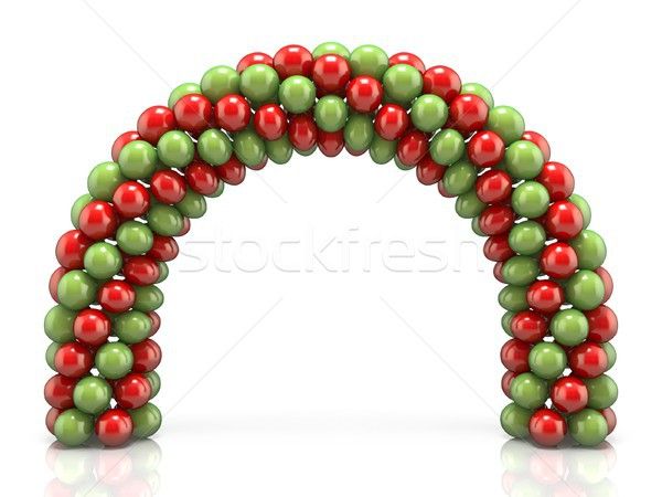 Arc made of red and green balloons 3D Stock photo © djmilic