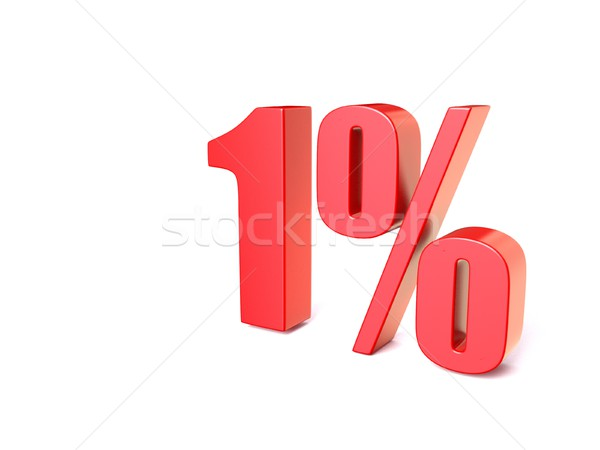 Red percentage sign 1. 3D Stock photo © djmilic