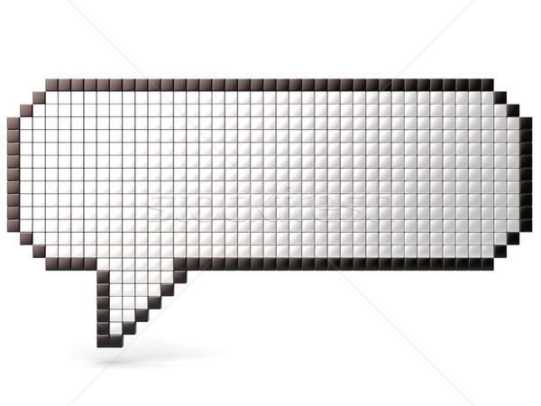 Pixel fumetto lucido 3D rendering 3d Foto d'archivio © djmilic