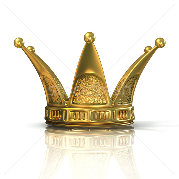 Golden crown isolated Stock photo © djmilic