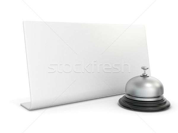Hotel bell with blank sign. 3D Stock photo © djmilic