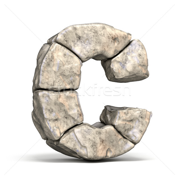 Stone font letter C 3D Stock photo © djmilic
