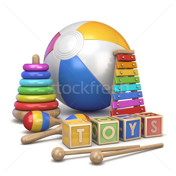Kids toys concept 3D Stock photo © djmilic