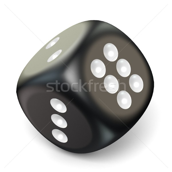 Single black game dice. 3D Stock photo © djmilic