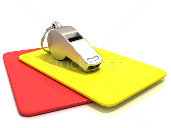 Metal whistle and penalty card Stock photo © djmilic