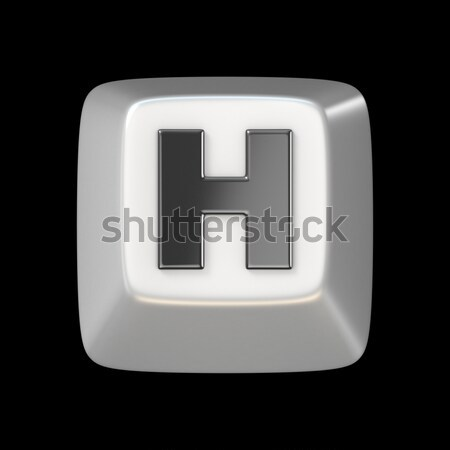 Clave fuente letra h 3D 3d Foto stock © djmilic