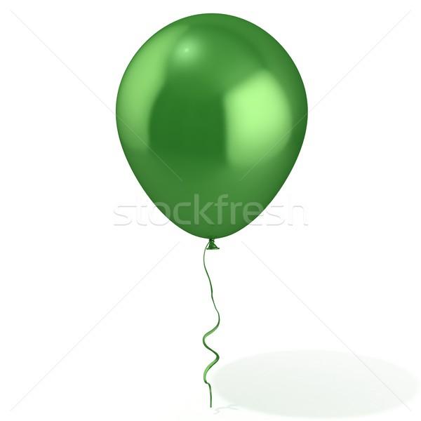 Green balloon with ribbon Stock photo © djmilic