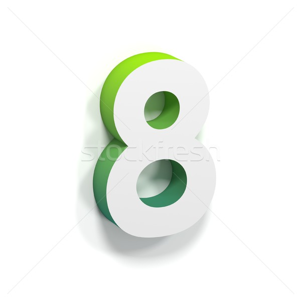 Green gradient and soft shadow number EIGHT - 8 Stock photo © djmilic