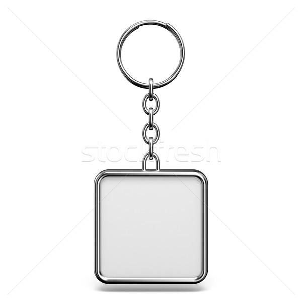 Fém csecsebecse gyűrű kulcs tér forma Stock fotó © djmilic