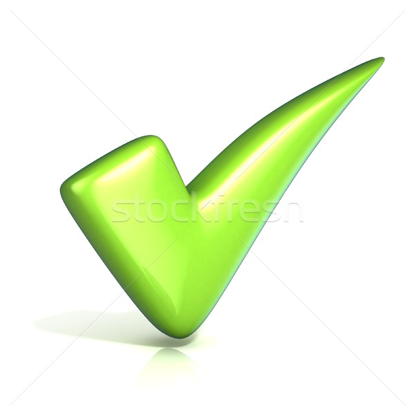 Green correct check mark Stock photo © djmilic