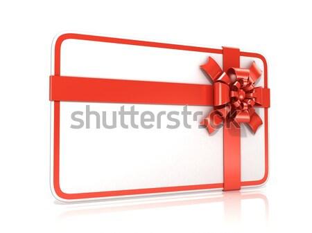Blanco tarjeta de regalo 3D 3d ilustración Foto stock © djmilic