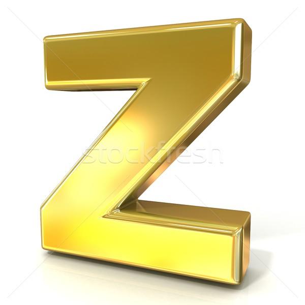 Golden font collection letter - Z. 3D Stock photo © djmilic